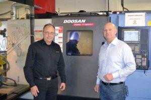 Merx har haft ett tätt samarbete med Duroc Machine Tool och säljaren Christer Gräf, vilket har resulterat i tre maskiner från maskin-tillverkaren Doosan.