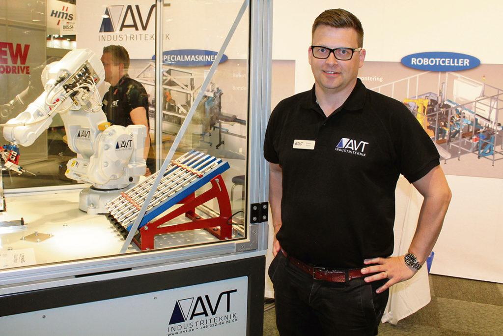 Martin Book, vd för AVT, berättade att företaget jobbar med monteringsutrustning, maskinbetjäning och produktionsutrustning.