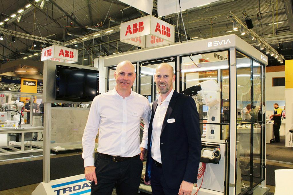Jonas Bülow, försäljningschef på SVIA och Henrik Saldner, vd på SVIA, var förstås nöjda med att kunna släppa nyheten att ABB har förvärvat SVIA som har sina rötter i just Jönköping