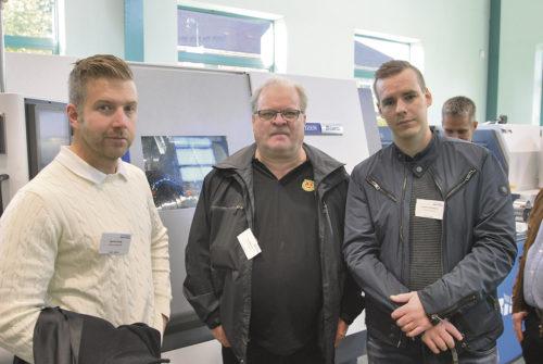 Martin Bogg, Gert Matsson Boggs Mekaniska i Mora och Lennie Gustafsson applikationstekniker Bromi Gruppen.