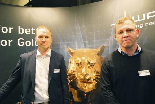 Andreas Nyberg, en stor tiger och Johan Kjäll Walter Norden AB.
