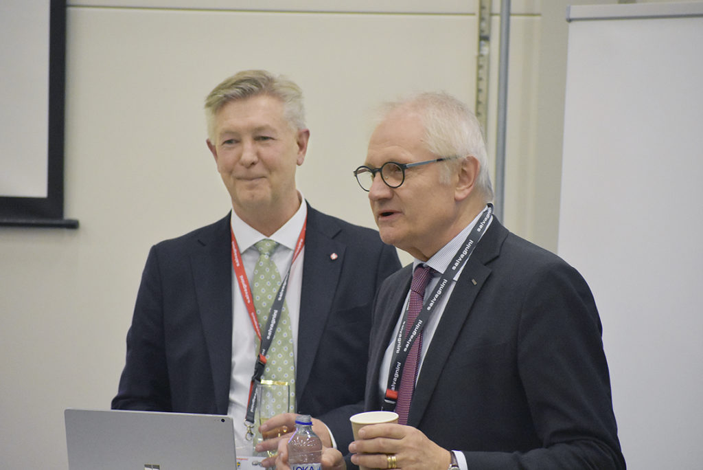 Björn Ahlqvist VD Salvagnini Scandinavia och Gerteric Lindquist CEO NIBE Industrier.