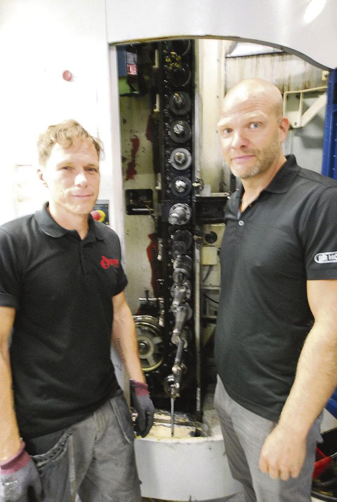 Förverktyget innan brotschning, en URMA stegupprymmare från HORN Sverige.