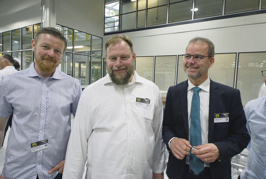 Jonas Bergman, David Sundberg GKN och Stefan Hansson Horn Sverige.