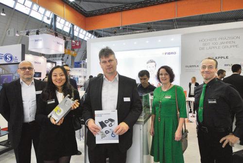 Anne-Maj Öström, Lars Sandberg, Muzi Li från Conveyor 22 AB, Volker Rupprecht och Norbert Reinmuth från Fibro GmbH.