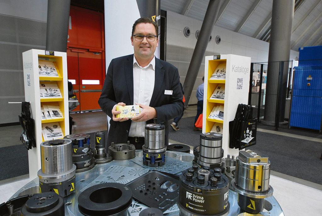 Patrik Wallin Stanstek, visade verktyg från PASS Stanztechnik AG.