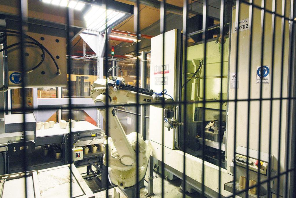 Hög automatiseringsgrad betyder säkra prosesser, betyder permanent riggade verktyg.