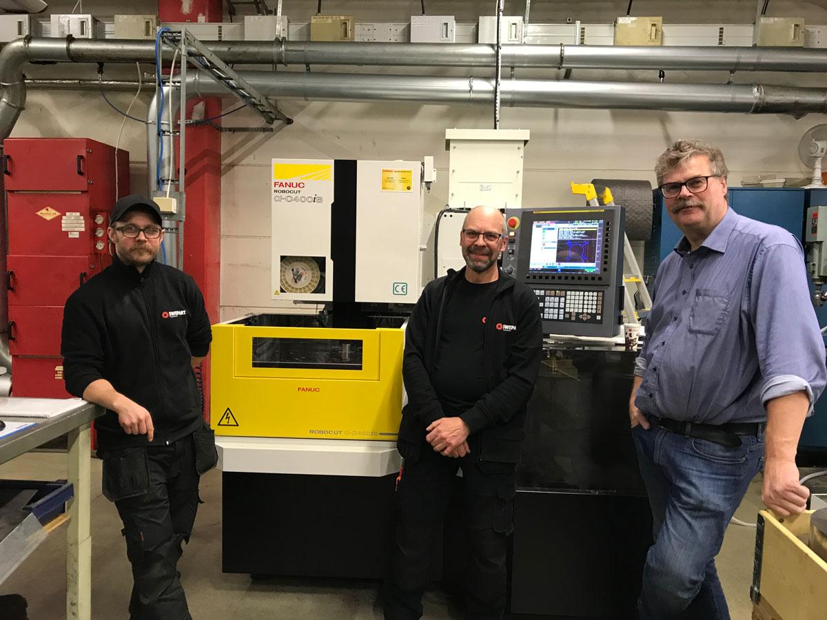 Från vänster Jonatan Burman, Thomas Gustavsson och Christer Blomström