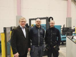 Thomas Håkansson maskinsäljare Intercut AB, Marcus Johansson och Gabriel Moberg Abrahamssons Järn AB.