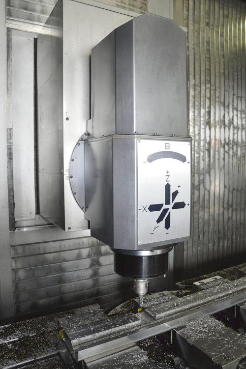 Doosan 850 VCF LSR har en spindeleffekt på 22kW och spindelvarvtal på 12000 rpm.