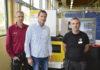 Anders Svensson, lärare för den nya verktygstekniska utbildningen, Torbjörn Ahnell, lärare och teknisk projektledare, och Thomas Jansson lärare för produkt- och maskinteknik metall (verktygsteknik) är alla väldigt nöjda med den nya Fanuc trådgnisten från Star Servus.