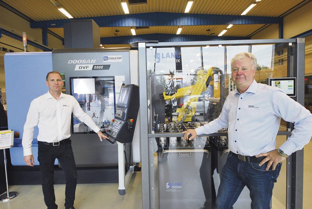 Jimmy Kaukinen Area Sales Manager Distrikt Syd och Anders Svensson produktchef Tooling.