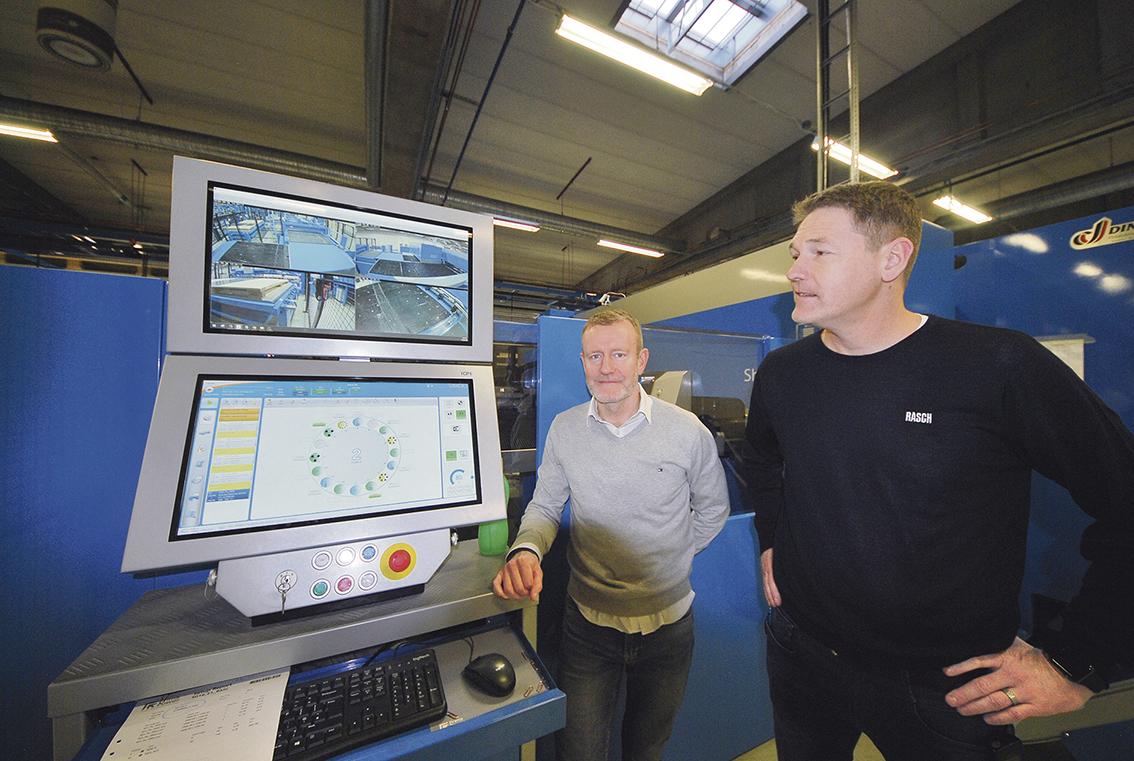 Richard Uppenberg maskinsäljare Din Maskin och Lars Andersson produktionsledare, plåtverkstaden Rasch AB