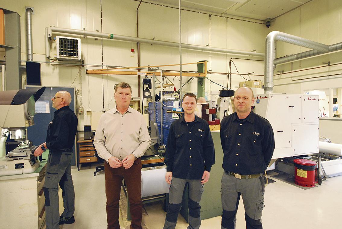 Anders Karlsson platschef, Nicklas Irestam, produktionsledare och Magnus Hermansson, produktionschef.