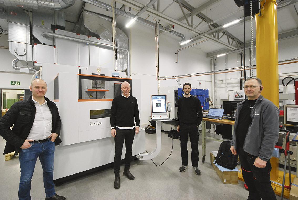 På fotot ser vi Andreas Östberg Masentia, Peter Nilsson och Jonas Rönnfalk Lideco samt Zoran Malesevic Masentia.