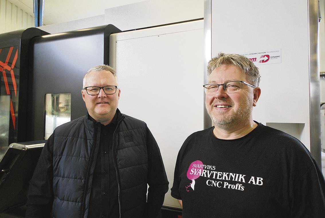 Två proffs, Jon Arne Fordal inom CNC- bearbetning och Rolf Olofsson på skärande verktyg.